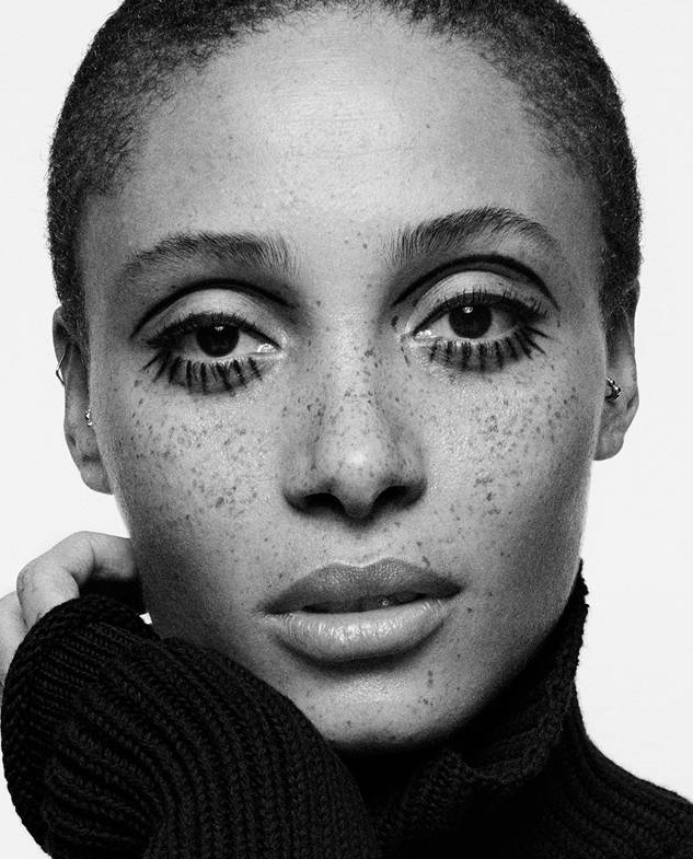 Makeup for Adwoa Aboah for British GQ Shot by Buzz White, Styled by Luke Day