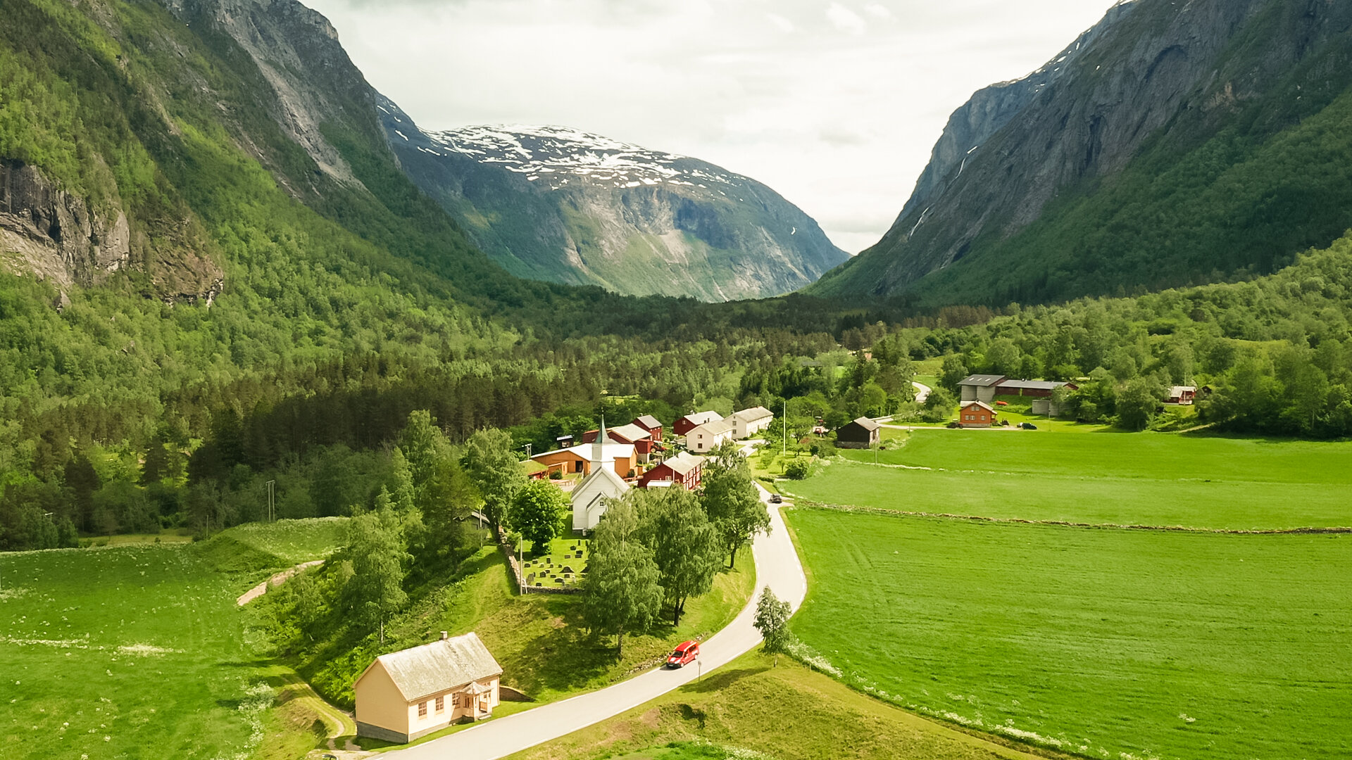 Having inside knowledge about our fjords and mountains is a market advantage when scouting for drone locations. Captured with Mavic 2 Pro.