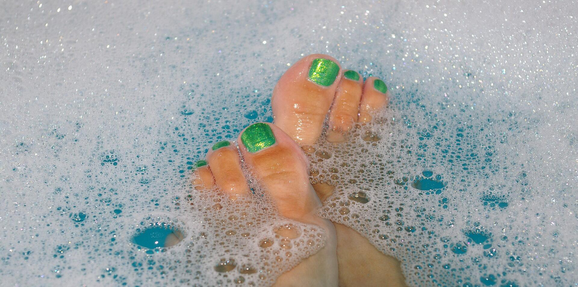 A bubble bath at the end of a long hard week sounds so relaxing!