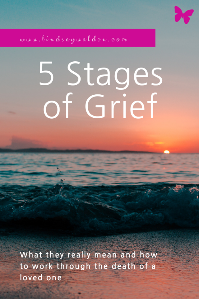 Have you heard of the 5 stages of grief? Coping with death and grief can be confusing and overwhelming. There are 5 stages and each one is a normal process that everyone deals with in their own way. #Grief #Grieving #5StagesOfGrief #GrievingProcess #Loss #DeathOfALovedOne