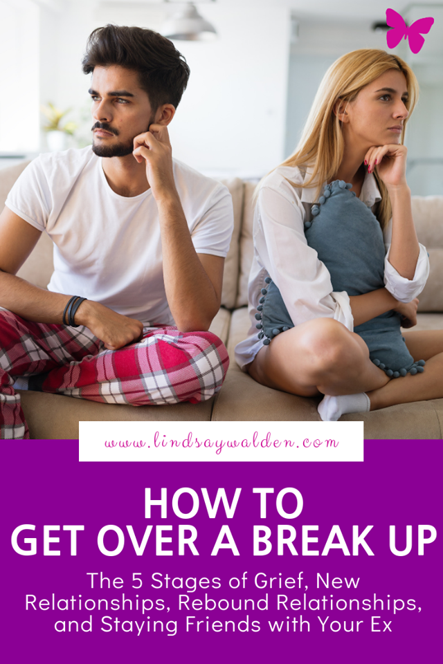 Are you trying to get over a break up? It's important to give yourself time to grieve the loss of a relationship. Here are my tips on how to get over a break up, to reflect and find yourself again, and what to do once you feel like dating again. #Breakups #Relationships #Heartbreak #The5StagesOfGrief #FindYourselfAgain