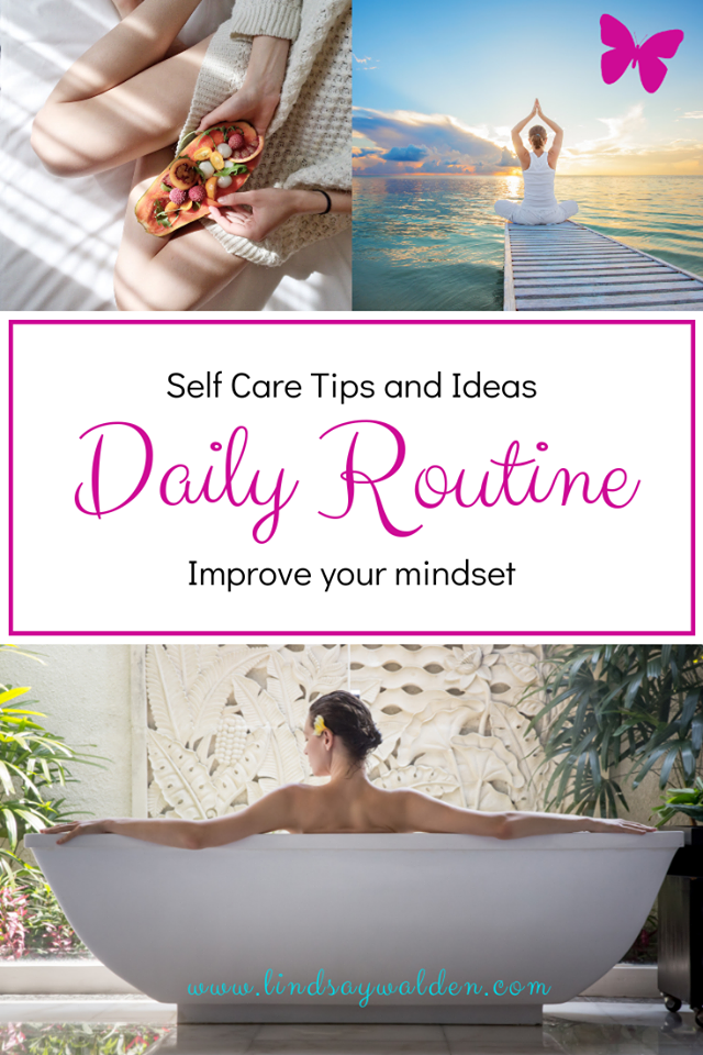 Are you looking for a way to create a daily self care routine? Did you know taking 5-30 mins a day to work on self care can dramatically improve your life? It's true! These simple tasks can improve your mental health. Take the time for YOU and start creating a daily routine TODAY! #SelfCare #SelfCareRoutine #DailyRoutine #MentalHealth #SelfCareTips #SelfCareIdeas #SelfCareActivities #FillYourCup