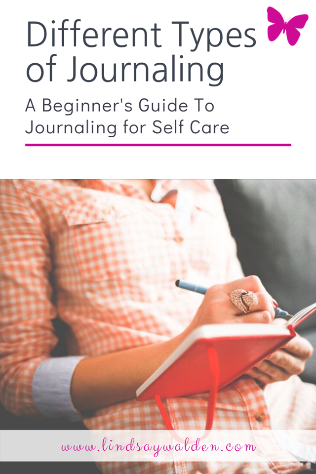 Did you know there's many different types of journaling? It's not just about writing in a journal. You can choose your own topic and your own style. If you are new to self care journaling and are wondering what kind of journal writing is right for you, keep reading and I will tell you a bit about them all! #Journaling #SelfCare #SelfCareJournal #MentalHealth #Therapy #EmotionalHealing