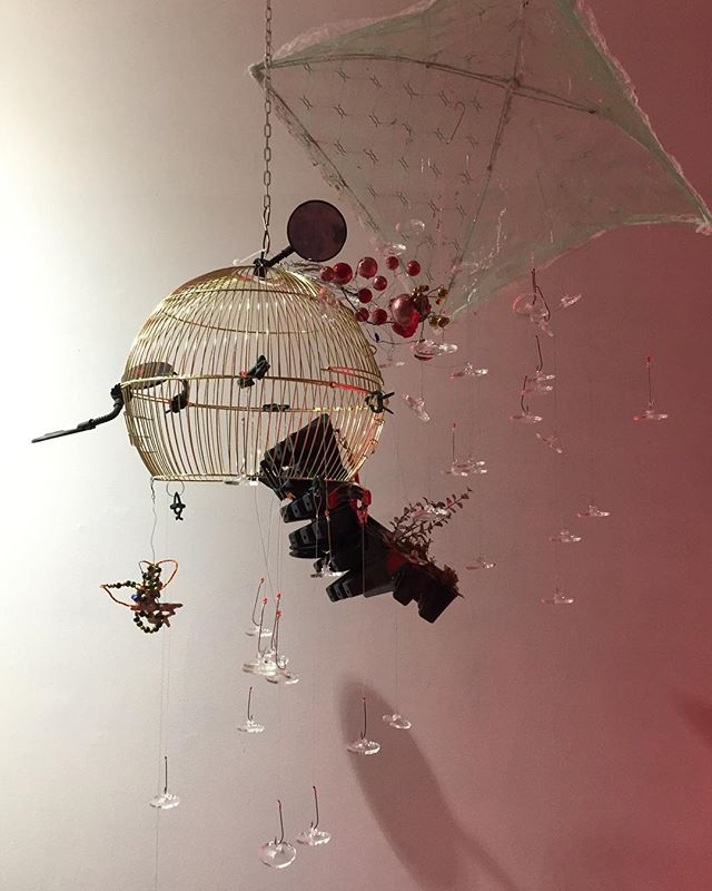 Inside my luggage#2018#mixed media#various dimensions#Installation#Soyeon cho, contemporary art#modernfuel #gallery#Kingston#New York#Toronto 2016#detail#abstractart#installationart