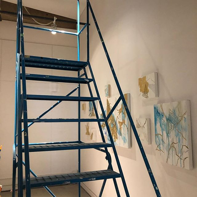 Union gallery#installing#Kingston,#queens university#opening#saturday#contemporaryartist#painting#abstractart#emotions