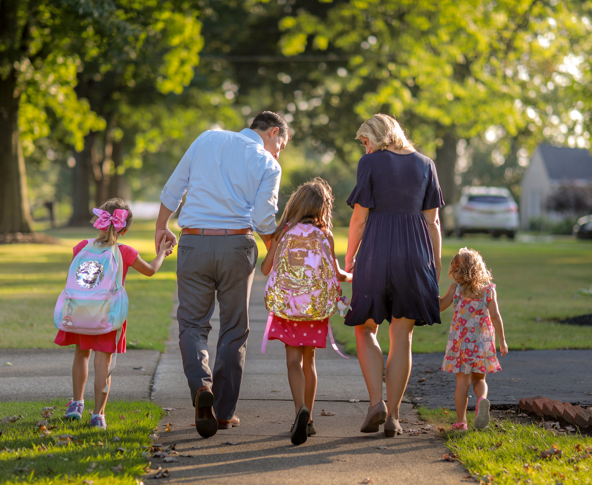 Secretary of State-Elect Frank LaRose pictured with his wife, Lauren LaRose, and their three daughters.