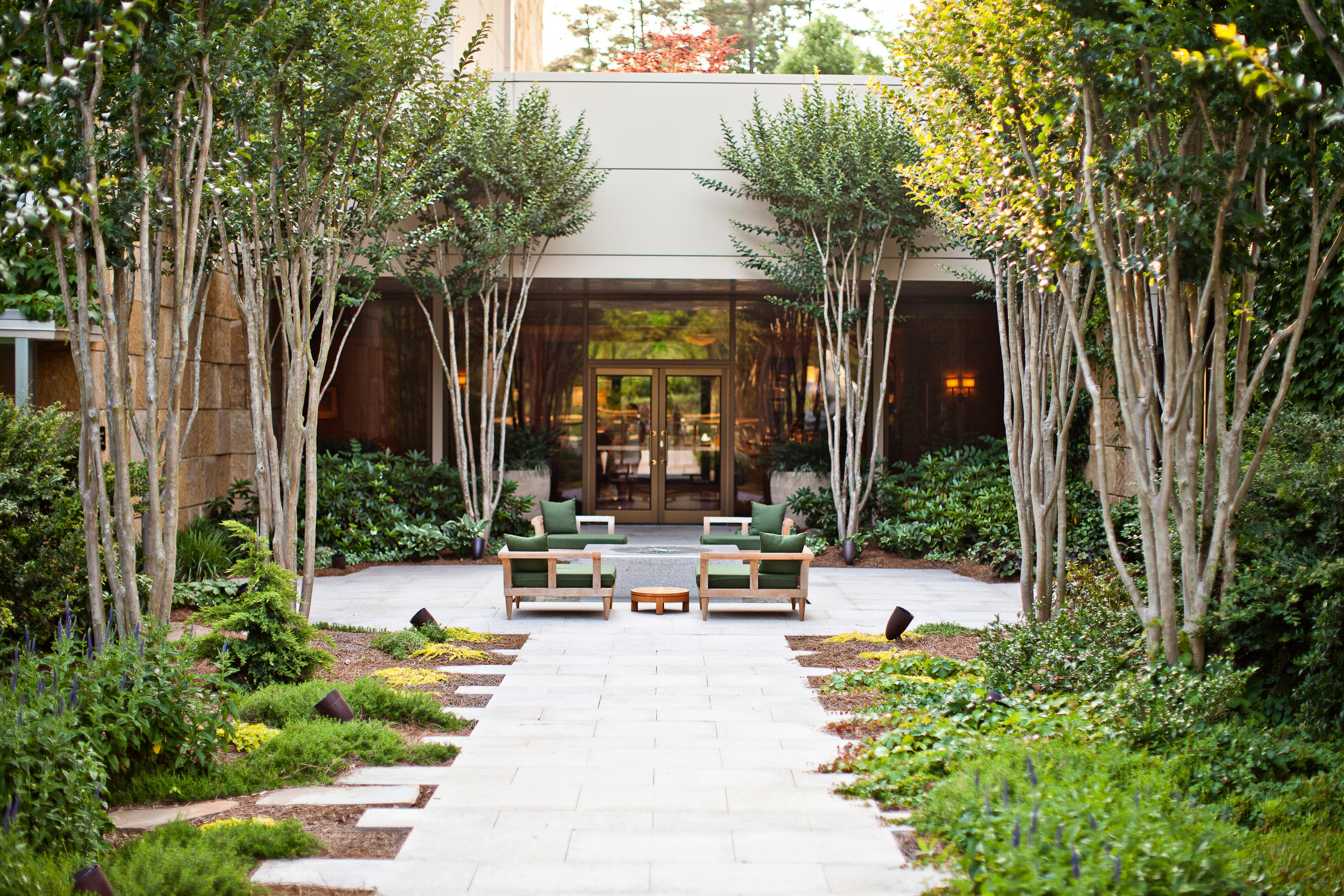 """The Umstead has a dog park on property called """"Dogwoods."""" The Art Tour Menu (the chef's tasting menu), is inspired by the art collection at the hotel. With each dish correlated to a different piece, it changes seasonally."""