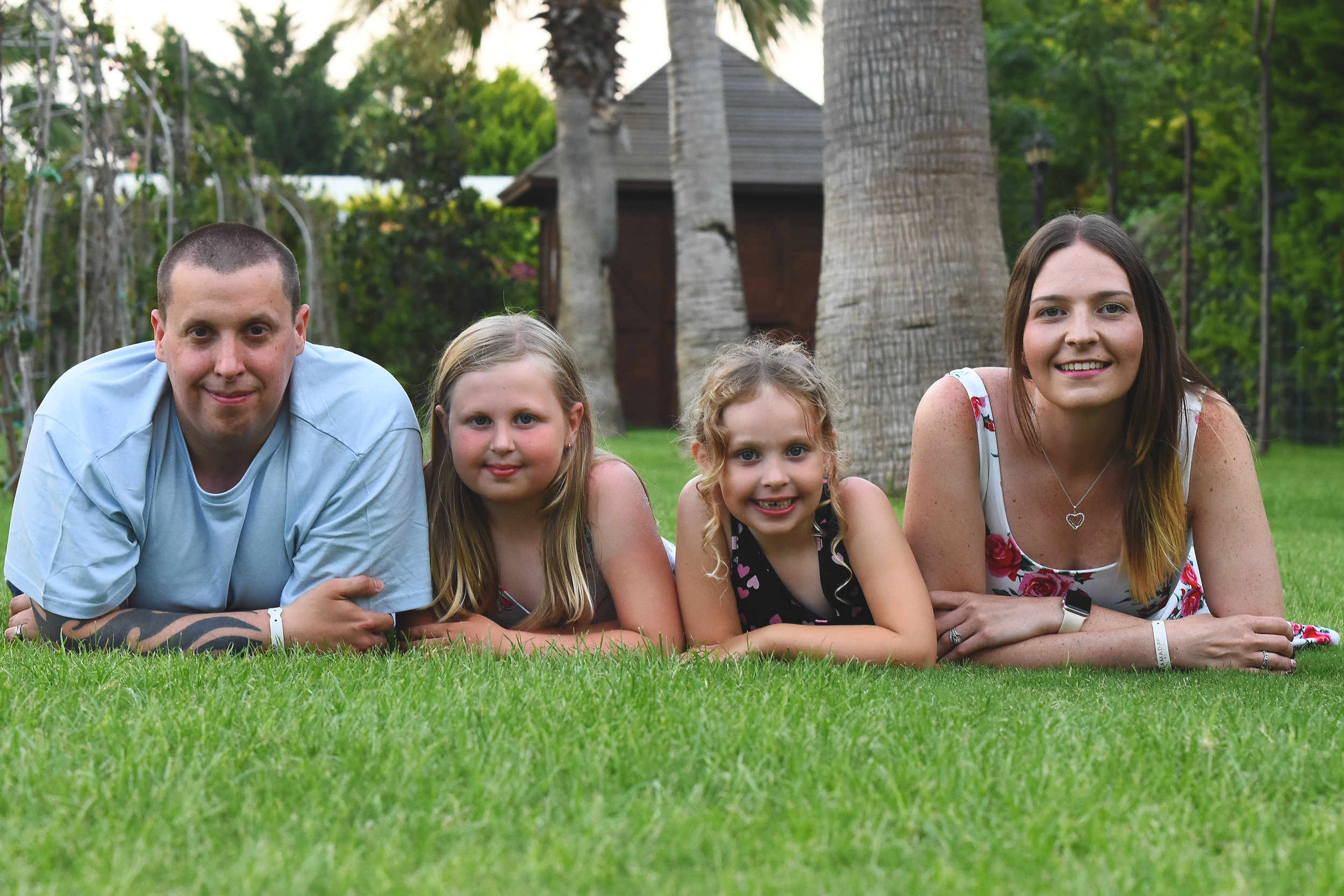Myself, my wife Vicky and my daughters Keeley and Lacey on a recent family holiday