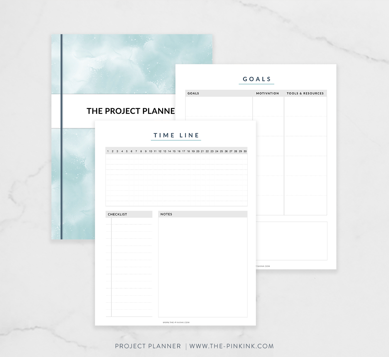 photo about Printable Project Planner titled Job Planner Package Printable The Red Ink