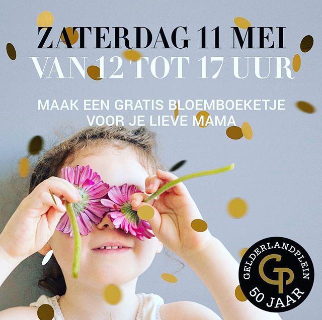 Maak een gratis bloemboeketje voor je lieve mama! Zaterdag 11 mei van 12.00-17.00 uur. Kom jij ook langs?  Mother's Day @gelderlandplein ❤️
