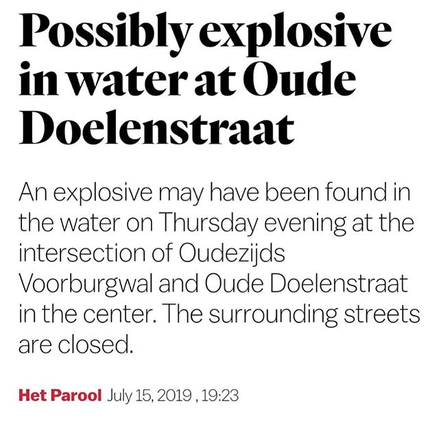 Grizzl Oude Doelenstraat is closed for tonight 😱