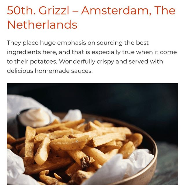 Very proud for another great review! @big7food @big7travel #50thplace #europe #freshcutfries #amsterdamfood #fries #potato #aardappelboer #homemade #grizzlgelderlandplein #grizzlmarket33 #grizzloudedoelen #foodie #foodphotography @maartenfleskens