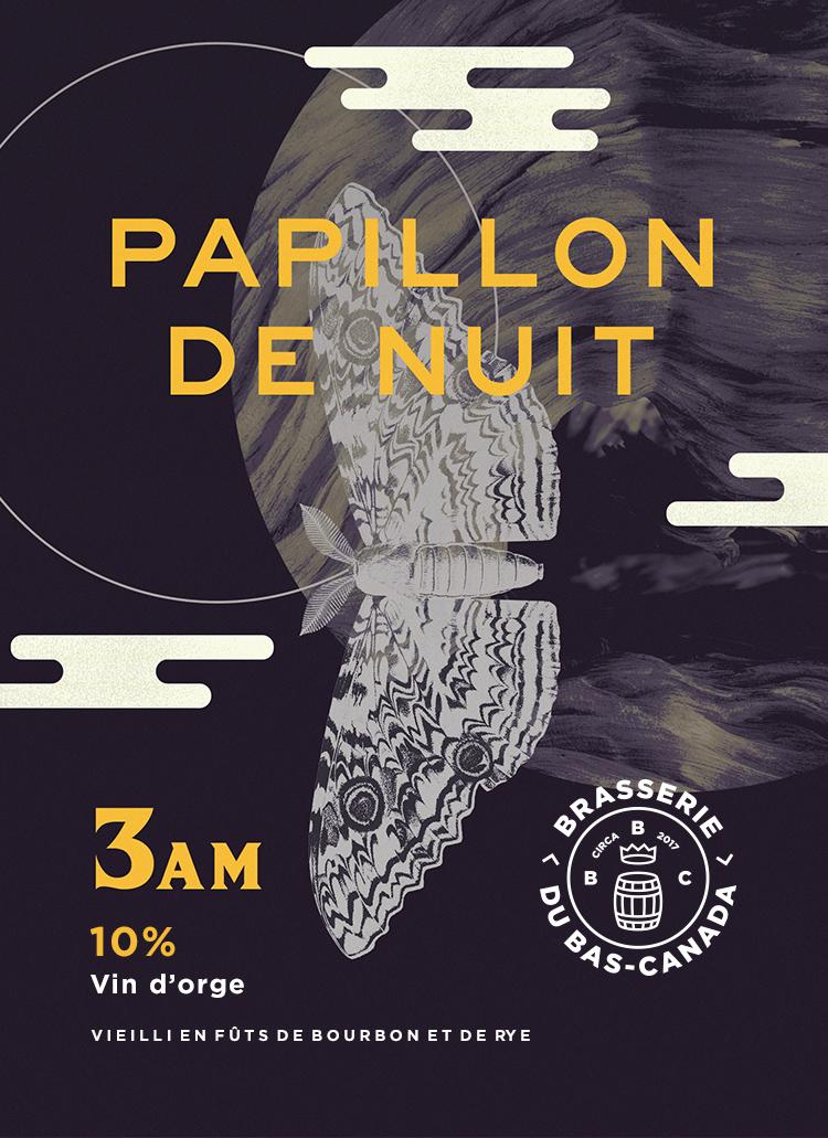 PAPILLON de nuit 3 AM - Vin d'orge