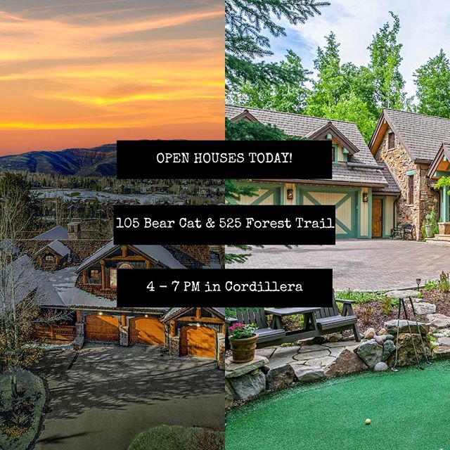 Join us today from 4-7pm, for the Wine Trail at The Ranch in Cordillera. Start at 105 Bear Cat and end your tour at 525 Forest Trail sipping some refreshing white wine. We'll see you there!