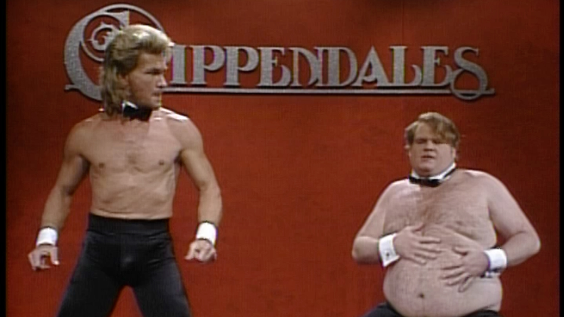 Patrick Swayze and Chris Farley