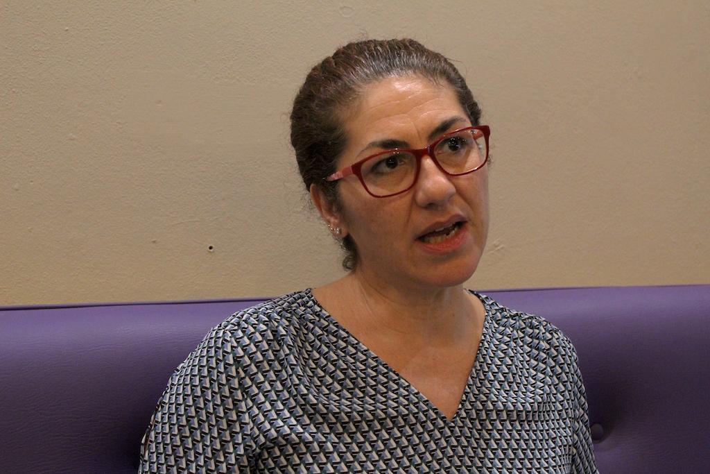 La profesora Edna Benítez Laborde. (Víctor Rodríguez-Velázquez / ONCE)