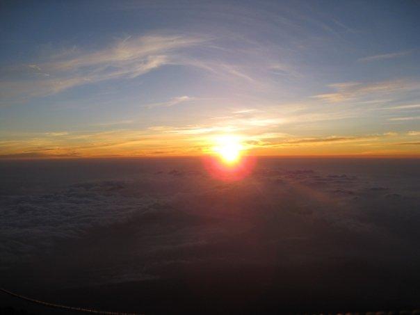富士山的日出