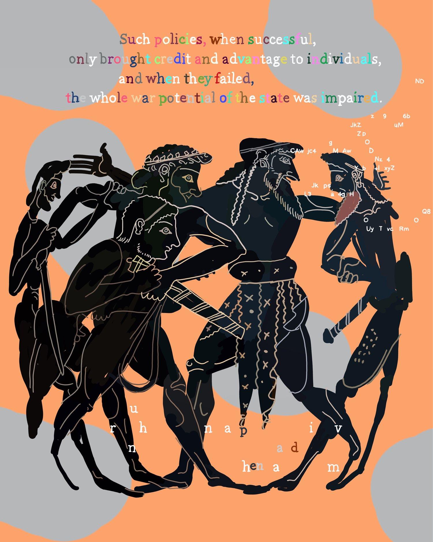 """The Peloponnesian War, Book 2.65"", iPhone X, digital image."