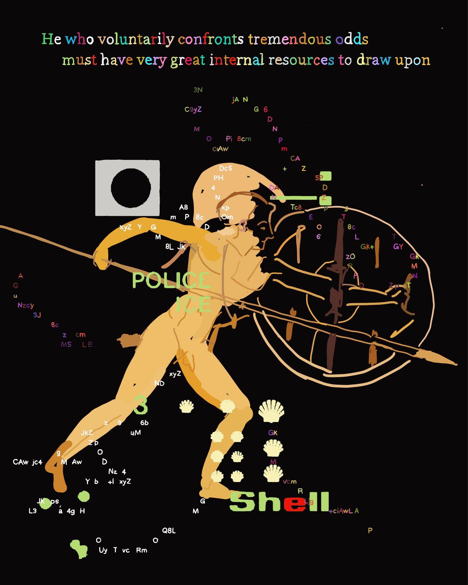"""The Peloponnesian War, Book 2.89"", iPhone X, digital image."