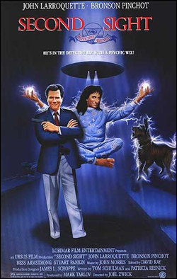 Second Sight   Director: Joel Zwick Producer: Lorimar Film; Warner Bros. Starring: John Larroquette, Bronson Pinchot, Bess Armstrong