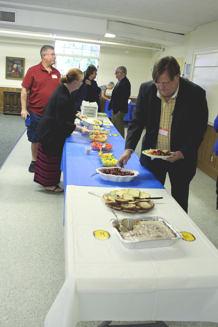 Volunteers from Asbury UMC arrived at 7 AM to begin preparing a homemade breakfast for the Methodist clergy and business leaders in attendance. Special thanks to Bob Hinton for coordinating such a kind and generous team!