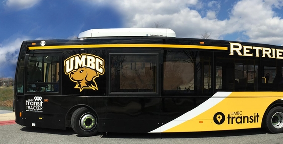 UMBC Retrievers Transit Bus