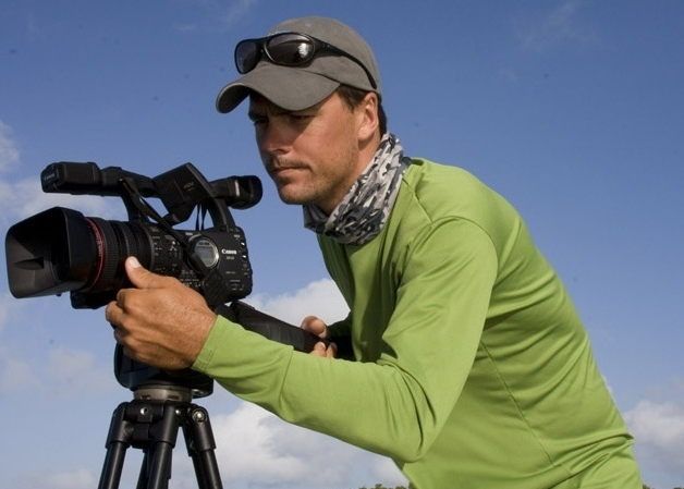 Capt. Will Benson behind the camera for one of his films