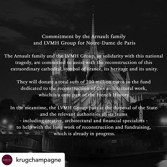 We VITches hold a special place in our hearts for champagne and Paris.  This was ❤️ to wake up to.  Je vous remercie @krugchampagne 🇫🇷 #paris #notredame #notredamparis #champagne #gooddeeds #❤️