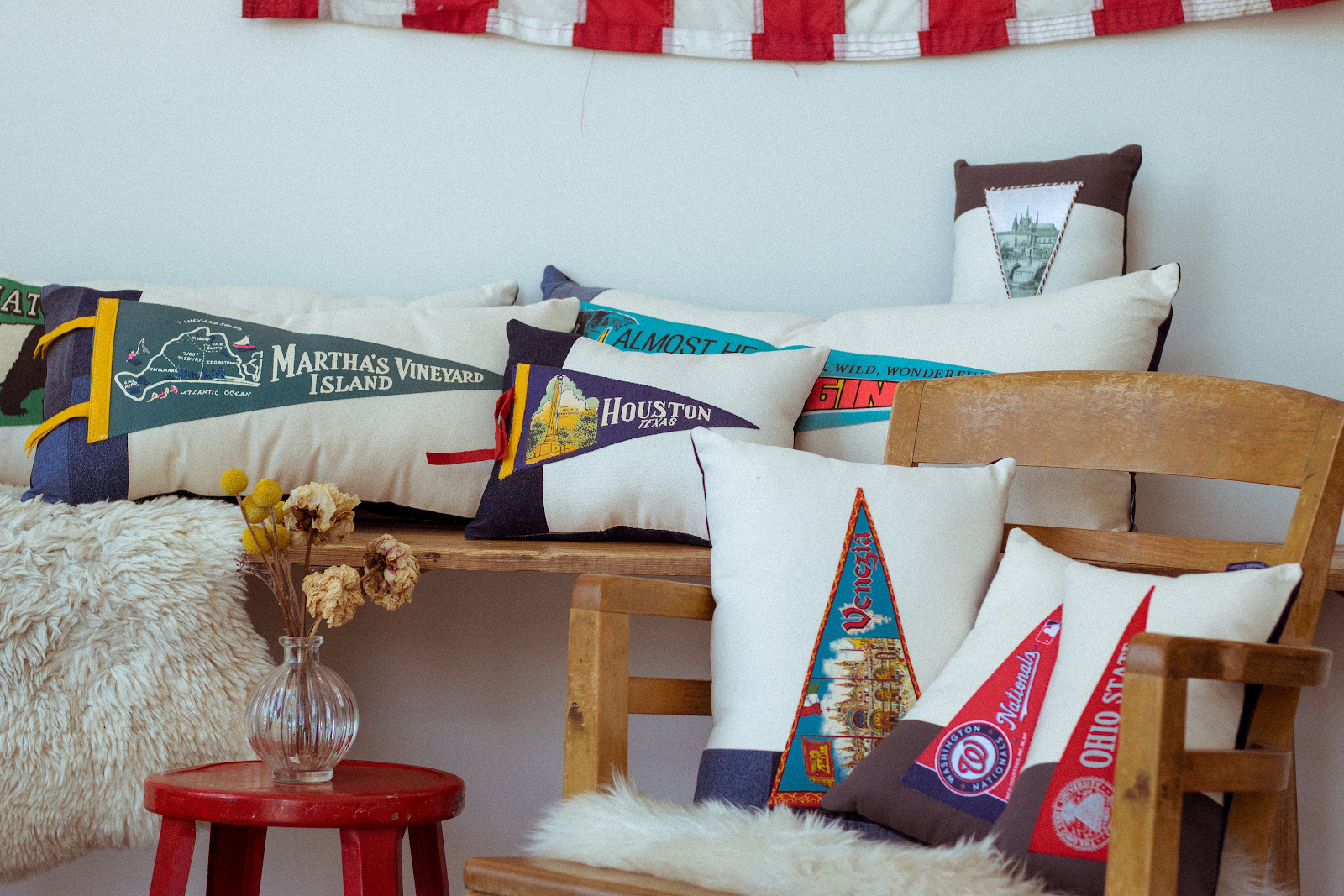 American Roadtrip Pennant Pillows