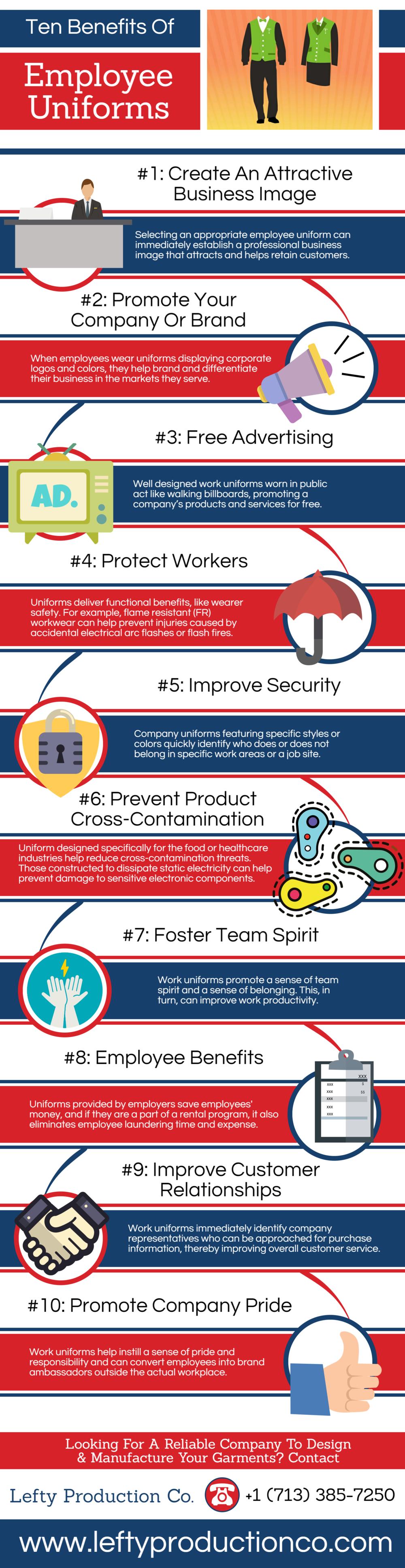 Ten Benefits of Employee Uniforms
