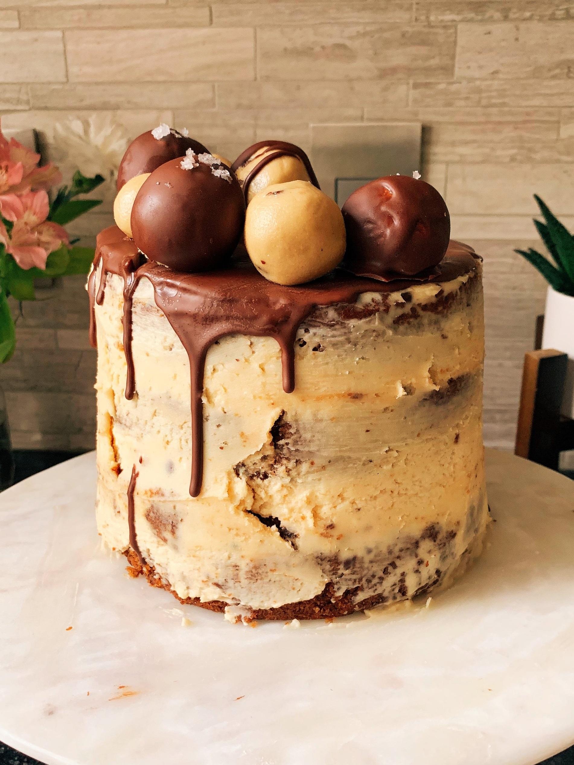 Chocolate Chip Tahini Vegan Drip Cake