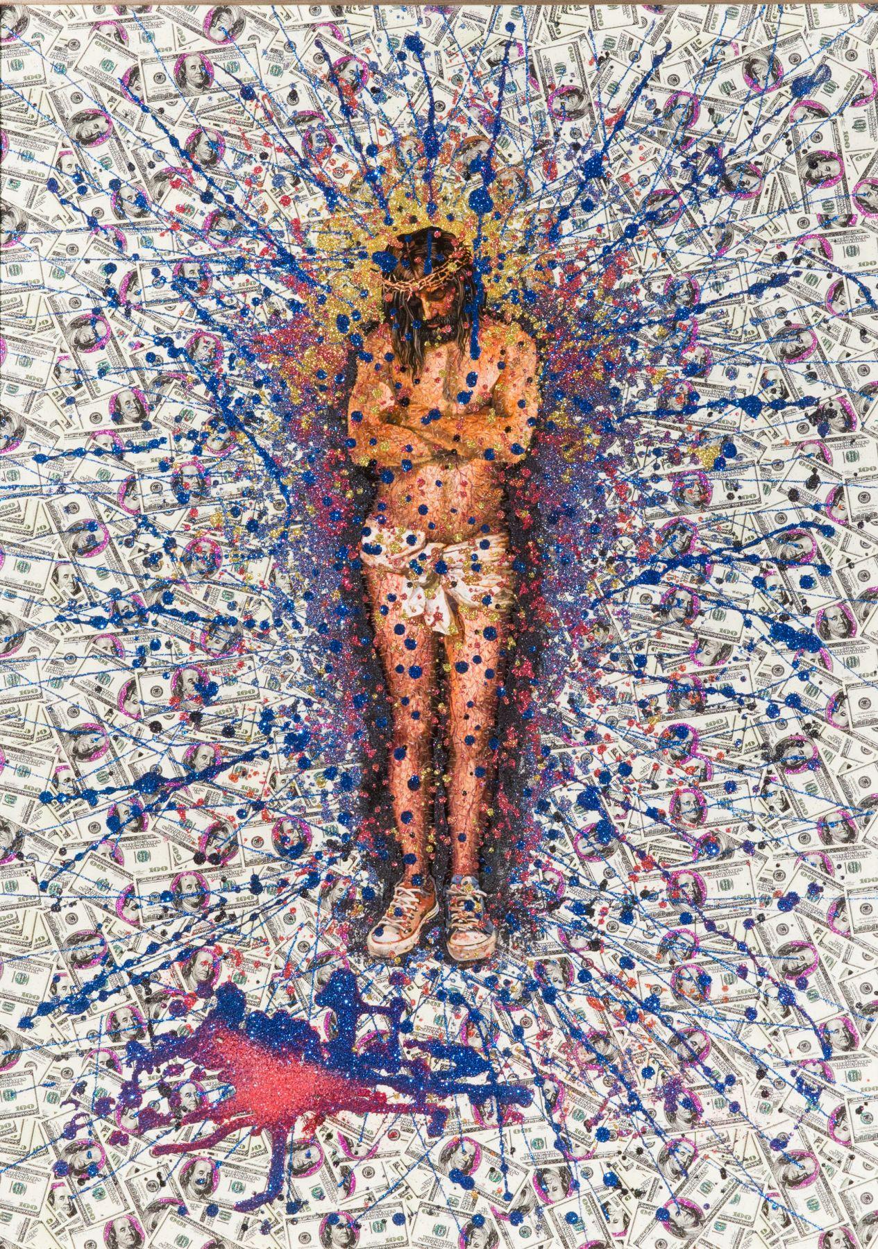 """No Soy Mercader de Los Templos, 2017. Mixed media. 37.50 x 27""""."""