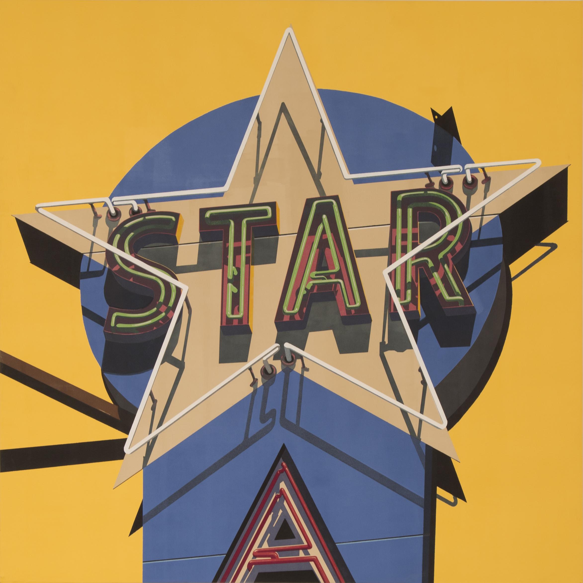 """Classic Star, 2009. Unique Silkscreen on Canvas. 79"""" x 79""""."""