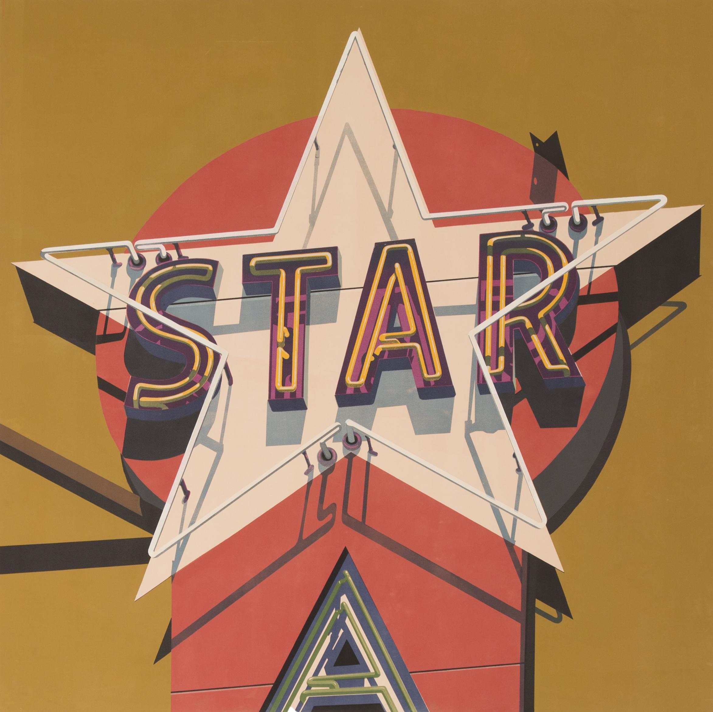 "Southern Star, 2009. Unique Silkscreen on Canvas. 79"" x 79""."
