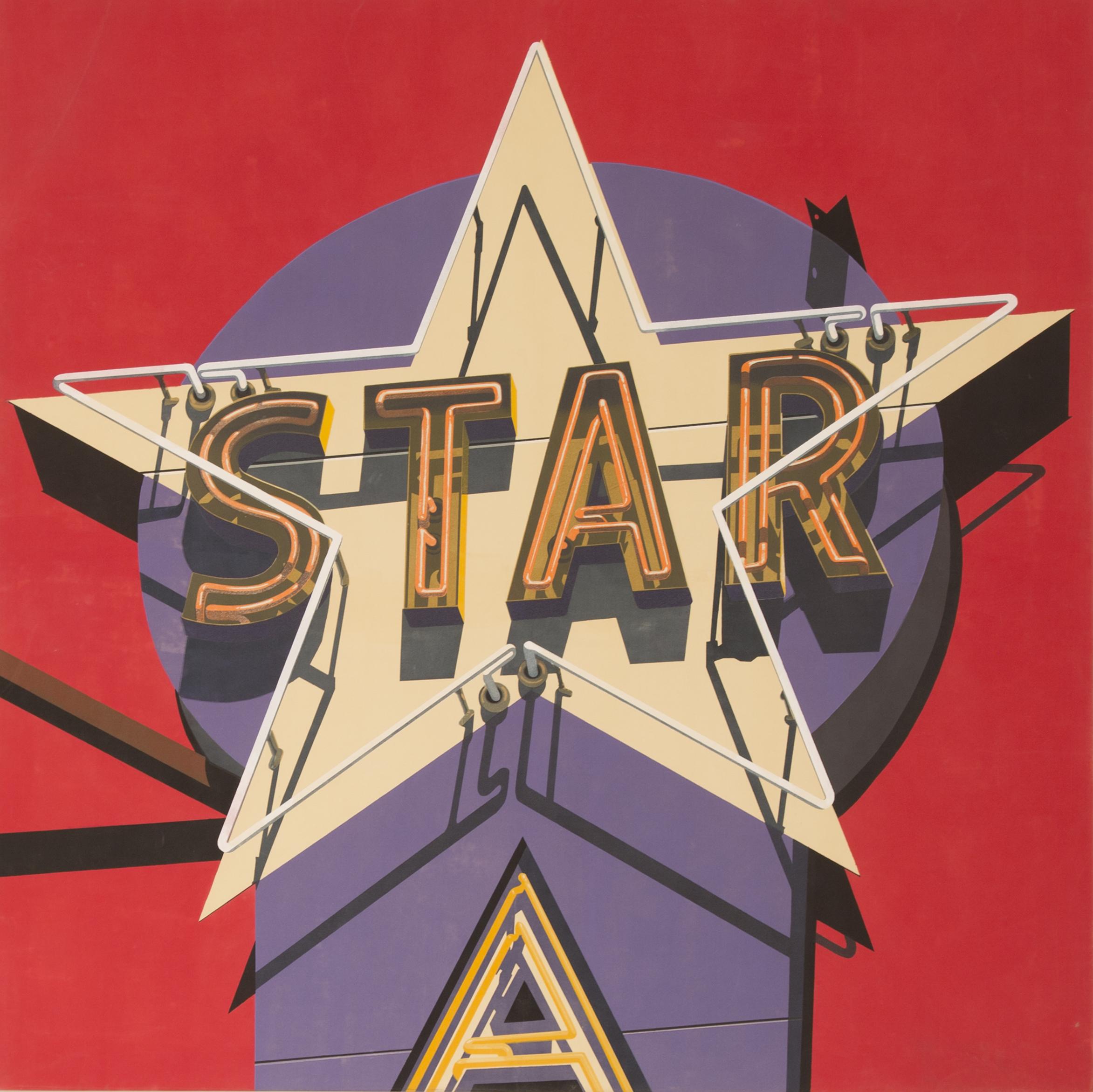 """Electra Star, 2009. Unique Silkscreen on Canvas. 79"""" x 79""""."""