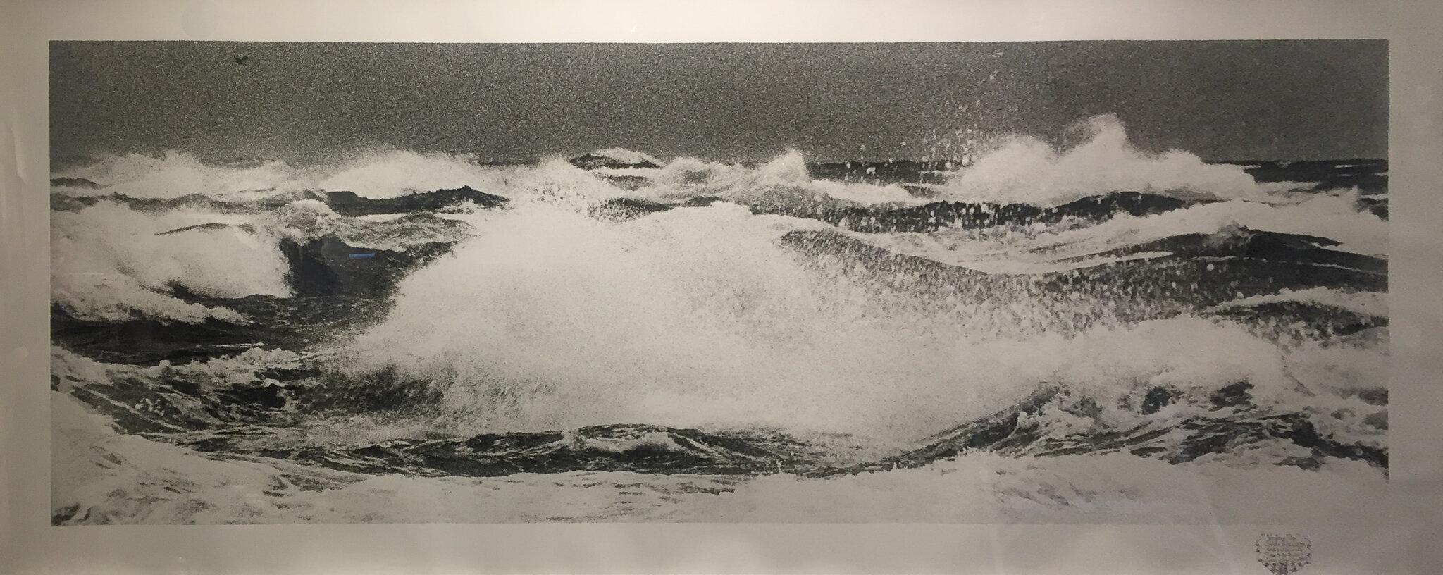 "Western Tip, 1994-2015. Silver gelatin print. 39 x 93""."