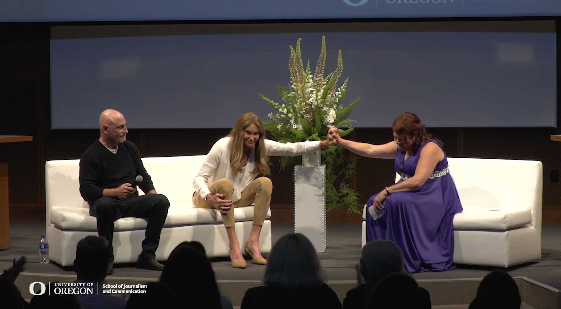 Bethany Grace Howe, Caitlyn Jenner, Alan Neirob at the SOJC