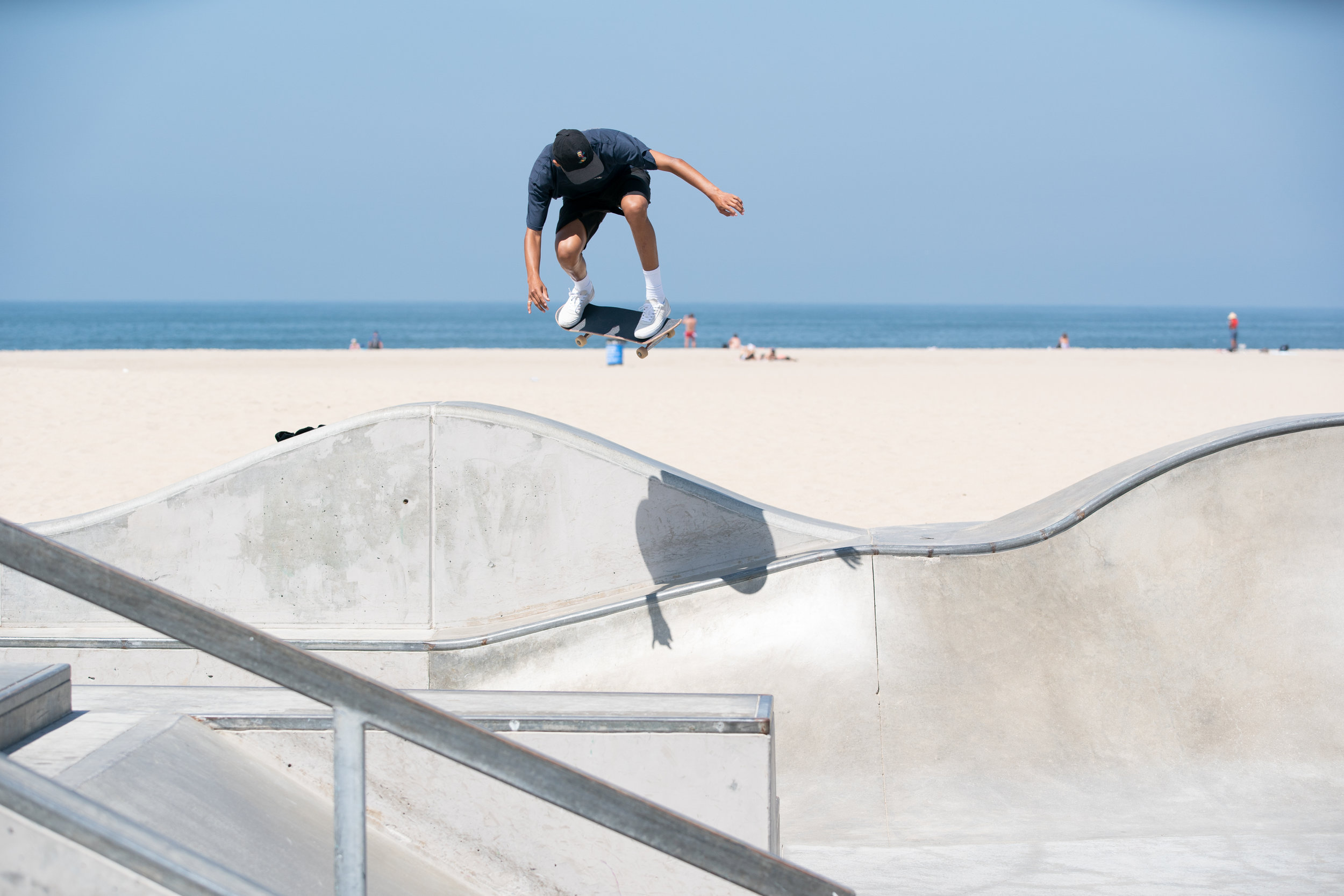 Ahhhh, Venice - We filmed at the skate park in Venice Beach, CA. Tough to not get the bystanders watching these guys shred in the marketing material.