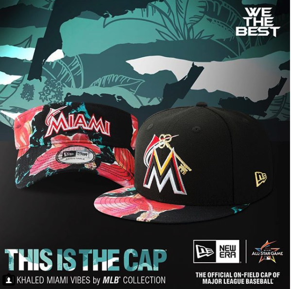Custom Floral - Among the assets designed was a custom floral pattern adorning product and POP / POS fixtures around the stadium, as well as a custom Key Miami Marlins logo for the custom apparel collection.