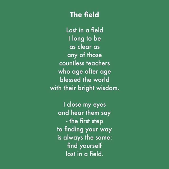 This is the third in a series, following on from 'Refuge' and 'For everyone'. #dharma #poetry #love #field #lost #meditation #newpoetry