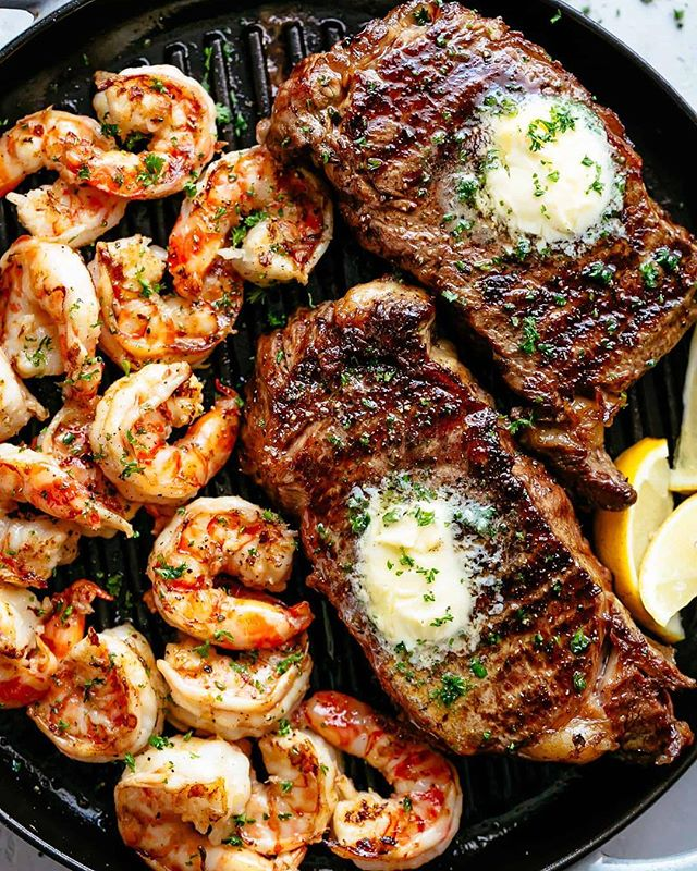Here's a surf and turf recipe worth waiting for! Garlic butter on grilled steak and shrimp... The best part? It's ready and on your table in less than 15 minutes 🙌🏼 get @cafedelites recipe with the link in my bio! . . https://cafedelites.com/garlic-butter-grilled-steak-shrimp/ . . . . . . . . . . . . . . . . . #foodgawker #igfood #food52 #homemade #fresh #forkyeah  #knowyourfood #recipe #recipeoftheday #lovefood #feedfeed #f52grams #makeitdelicious #healthyfood #healthyeating #eatright #freshforlaura #eeeeeats #thekitchn #onthetable #buzzfeast #instafood #inseasonnow #tastingtable #goopmake #thecookfeed