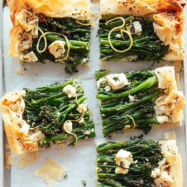 Filo Tart with Broccoli & Ricotta with a layer of pesto and topped with feta. This tart is an absolute dream 🌥 Take this into work for a snack, grab and go breakfast or whatever it may be... it will definitely brighten your day. Grab @izyhossack recipe with the link in my bio! . . https://topwithcinnamon.com/2019/04/filo-tart-with-broccoli-ricotta.html . . . . . . . . . . . . . . . . . #foodgawker #igfood #food52 #homemade #fresh #forkyeah  #knowyourfood #recipe #recipeoftheday #lovefood #feedfeed #f52grams #makeitdelicious #healthyfood #healthyeating #eatright #freshforlaura #eeeeeats #thekitchn #onthetable #buzzfeast #instafood #inseasonnow #tastingtable #goopmake #thecookfeed