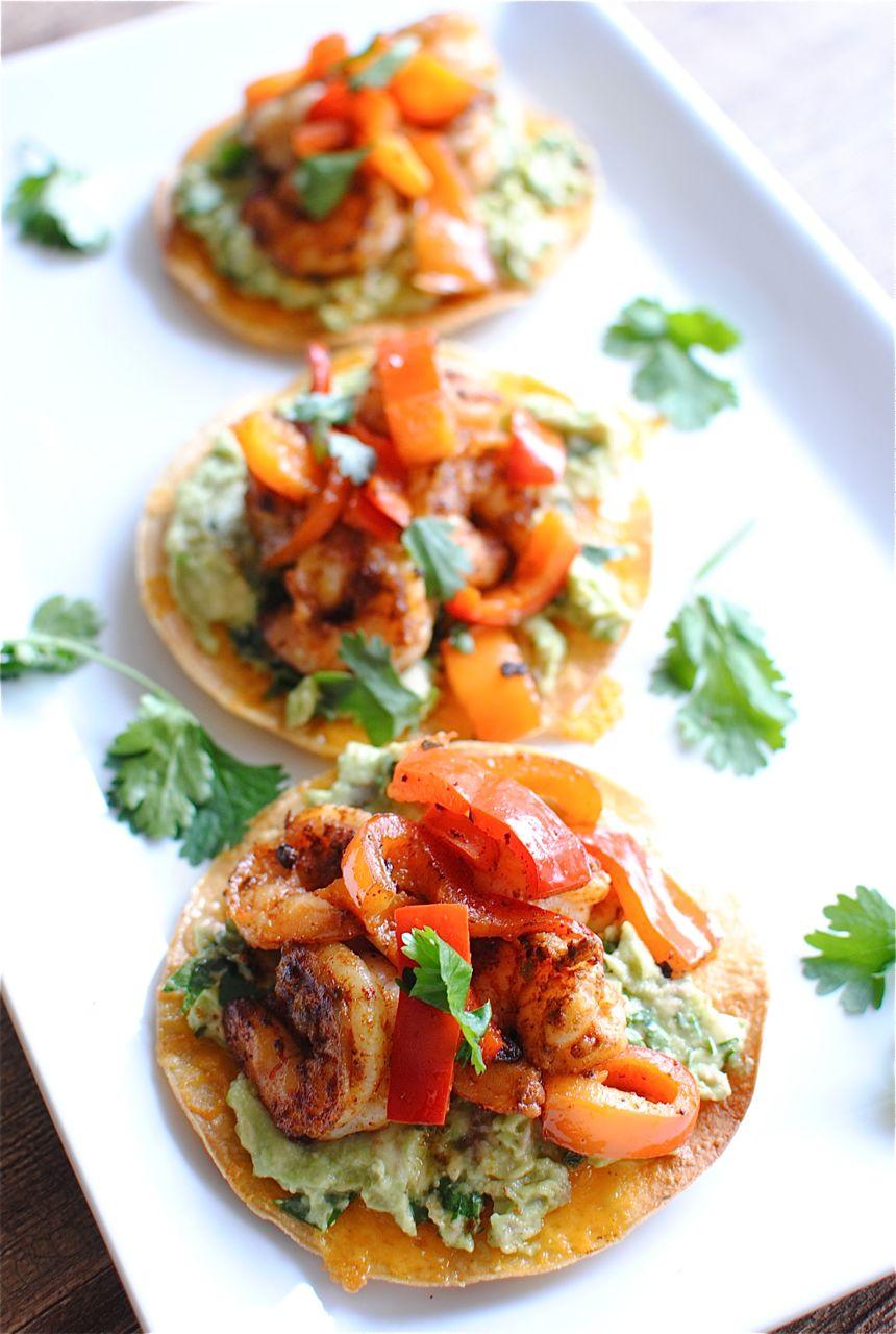 Shrimp & Guacamole Toastadas