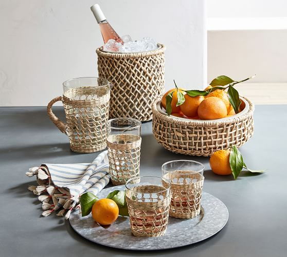 Pottery Barn Cane Drinkware Collection