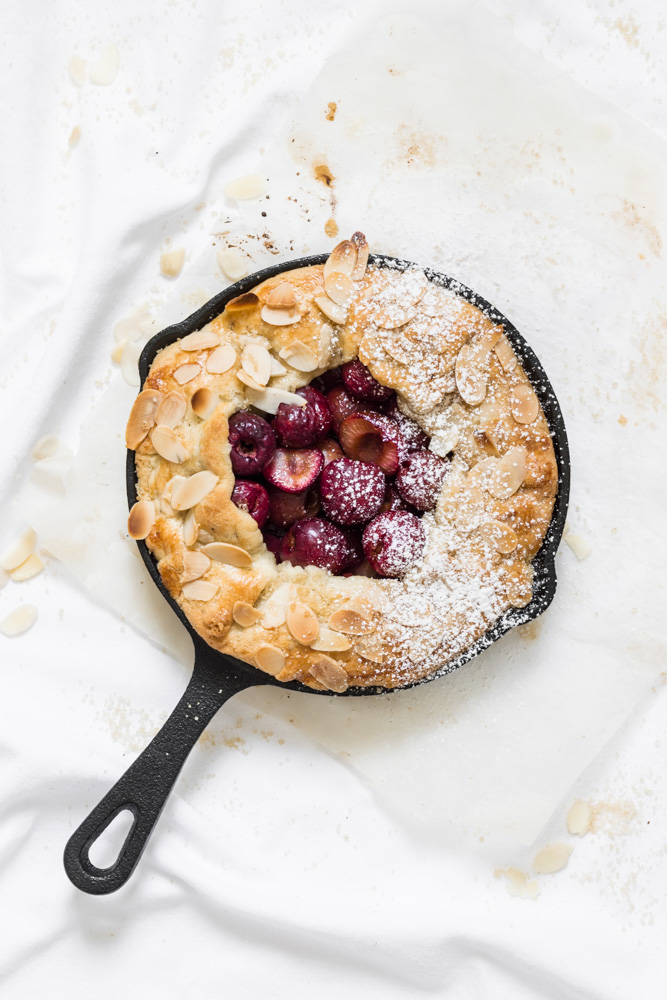 Cherry Galette with Cardamom Crust