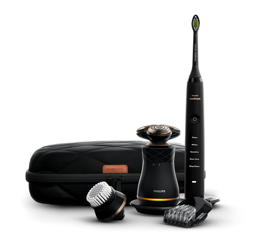Norelco Premium Mens Care Kit Electric Shaver and Toothbrush