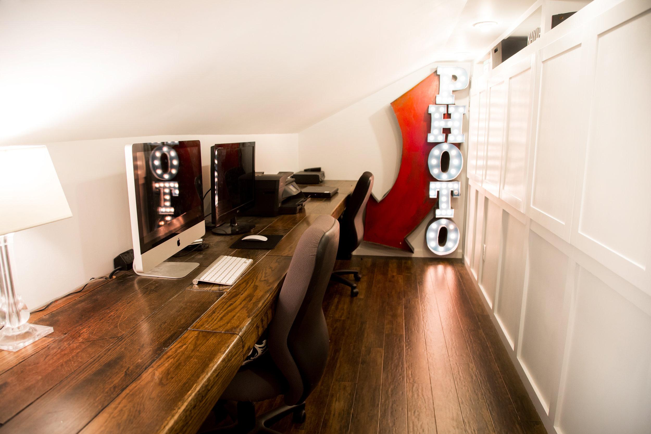 14' Red Oak built in Floating Desk