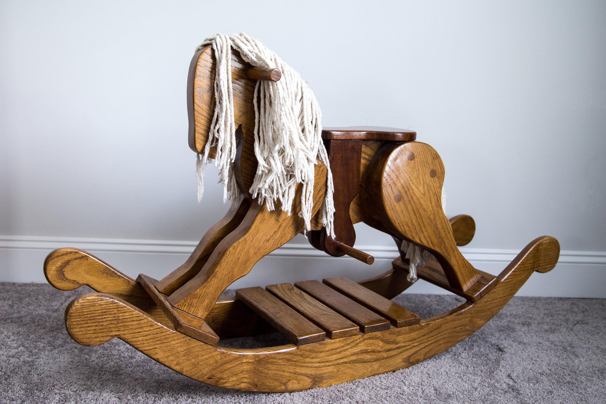 Oak Rocking Horse