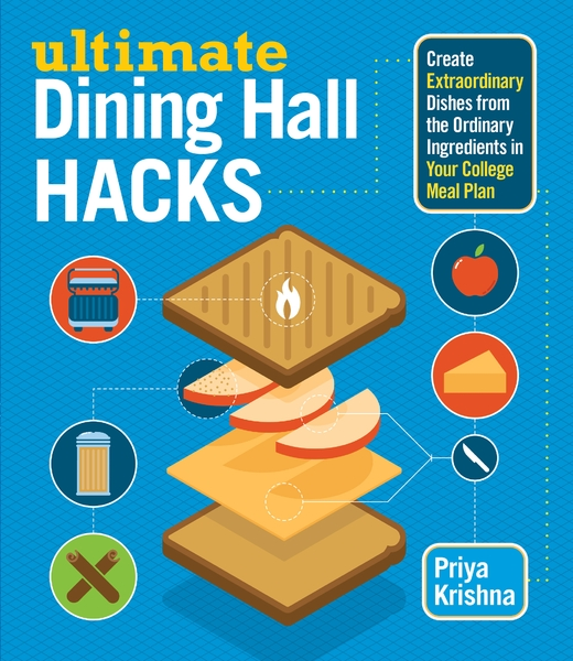 """- In June 2014, I released my first cookbook, Ultimate Dining Hall Hacks, with Storey Publishing. The book comprises 75 recipes that college students can make (and customize) on the fly, using only the ingredients and equipment found in a dining hall. You can buy it on Amazon, or wherever books or sold.What led me up to the book: I worked as a marketing consultant for Dartmouth Dining Services, where I served as a liaison between the student body and the dining administration, and assisted in creating menus, guest dinners, and promotions. Even earlier than that, I originated a weekly column for The Dartmouth called """"The DDS Detective,"""" where every week, I would come up with a different recipe that students could make in the campus' different dining establishments. I decided to take the recipes from my column, universalize them for any college campus, and add a bunch more. And so Ultimate Dining Hall Hacks was born."""