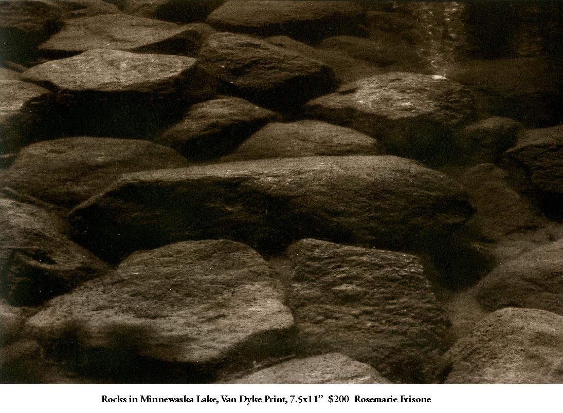 Rocks in Minnewaska Lake